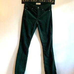 Corduroy Gap Dark Green Pants